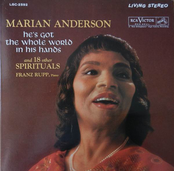 Marian Anderson, Franz Rupp - Hes Got The Whole World In His Hands And 18 Other Spirituals (LP)