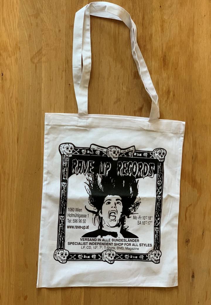 Rave-Up Baumwolle Tasche (weiß)